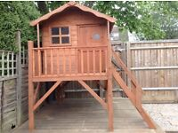Childs outdoor wooden playhouse/Wendy house raised