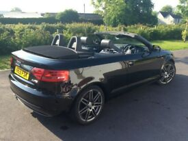 2009 (59 plate) Audi A3 convertible S-Line Special Edition!!! BLACK 2.0L TDI