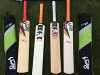 GM and Kookaburra Cricket Bats and bags *Individual Sale Availiable*