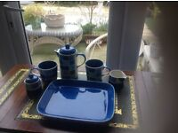 AN UNUSUAL SET FOR BESIDE THE BED FOR COFFEE OR TEA ,, ITS A DESIGNER MAKE AND LOVELY ACTUALLY ..