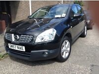 Single owner black Qashqai, low mileage, leather seats, many extras