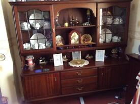 Mahogany dresser with matching corner unit.