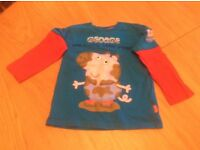 Children's 'George Pig' Long Sleeved Top. Age 4-5 Years.