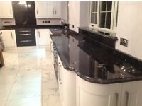 Luxury Black Granite Worktops - Fitted ONLY £995