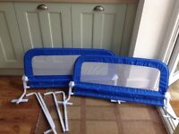 Two Toddler Bed Guards (Blue)
