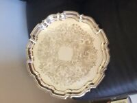 Silver Plated Salver