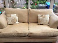 DFS neutral 3 seater fabric sofa