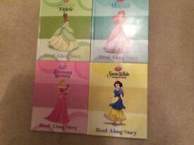 4 x Disney books / Snow White, The Little Mermaid, Sleeping Beauty & The Princess & the Frog4