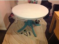 Hand painted dining table - round