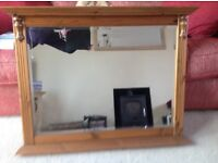 Ducal Antique Pine Mirror in excellent condition