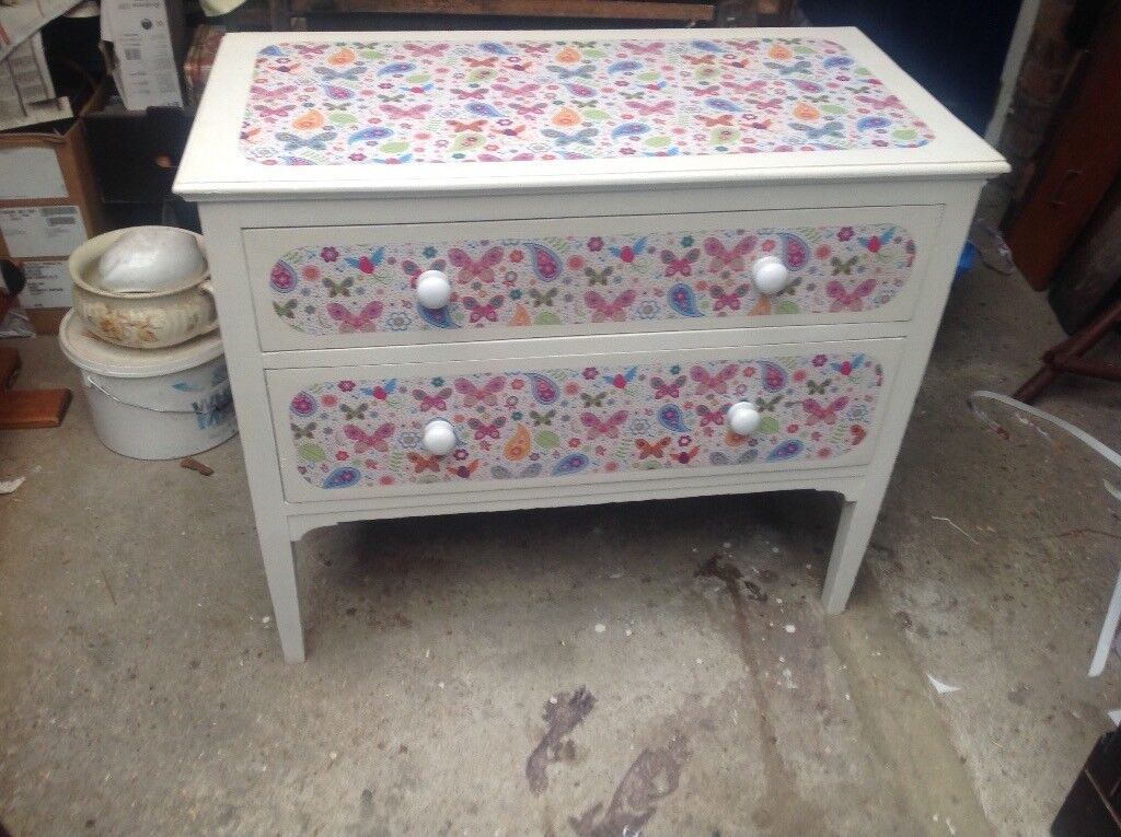 Two drawer decorated as seen