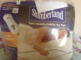Slumberland double under blanket electric