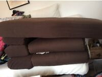Porto chaise sofa bed in chocolate brown