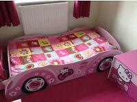 Wood hello kitty car bed