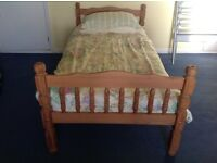Twin pine full size single beds
