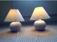 Pair of small table lamps.