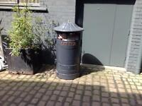 Cast litter bins one grey one wine colour