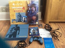 Playstation 4 console limited edition uncharted 1tb