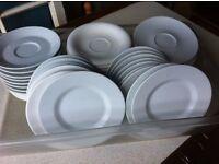30 hotel quality saucers & 17 side plates job lot