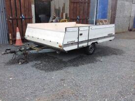 "Car Trailer.. ex Folding Caravan.. 8'6""x 6'6"" (Project)"
