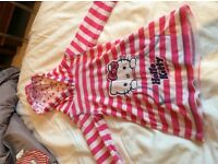 Girls hello kitty aged 12-18 month towelling/throw on, as New as never worn