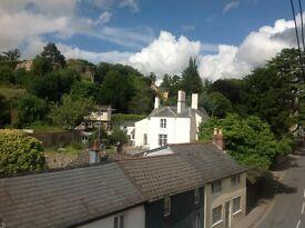 2 superb one bedroomed flats overlooking Usk Castle