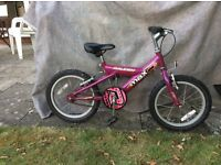 Child's bicycle 16inch 4-6 year old