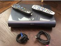 Sky+HD Satellite box 2TB, Two remotes and cables