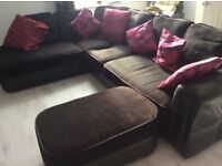 CORNER SOFA - MODERN BLACK CHEAP PRICE