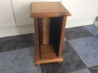 Small solid pine CD rack