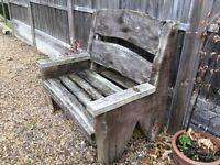 Bench garden oak