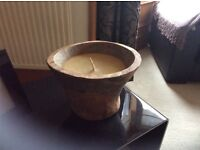 As new large floor candle