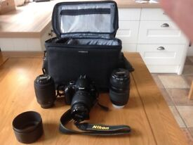 Nikon d5000 Camera with bag and accessories
