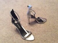 River Island silver shoes