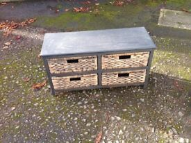 Chest of 4 rattan drawers