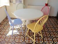 Pretty hand painted table and chairs
