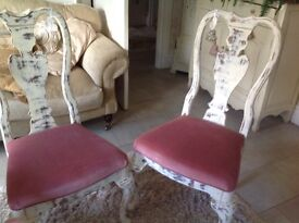 1 dining chair plus ornate coffee table