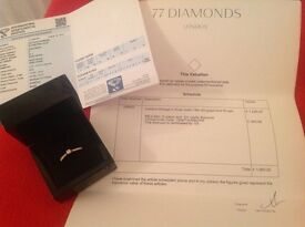 Engagement ring 77diamonds of London