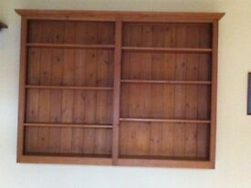 Solid Redwood Shelving Unit