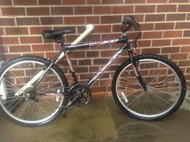 "Gents 26"" saber cycle. 6 gears, bell, pump holder, used twice. Immaculate"