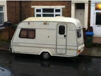Caravan camper can tow mobile home 1998 meteorite S 2 birth trailer swap for van car cash