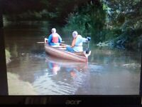 Canadian cedar canoe