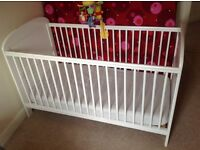 East Coast Angelina Cot Bed with John Lewis mattress