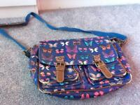 Girls Satchel bag butterfly design