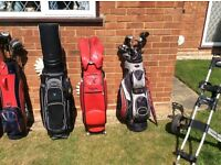 Golf clubs - bags and trolleys for sale