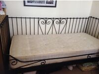 Full Size Single Daybed Day Bed complete with Mattress