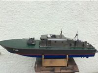 RC. CONTROLLED. WORKING MODEL GUN BOAT