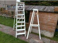 Ivory step ladder for wedding