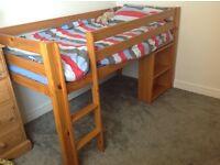 Mid-sleeper single bed