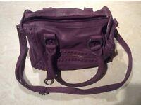 Women's Purple handbag (used) - must go as taking up wardrobe space, hence price